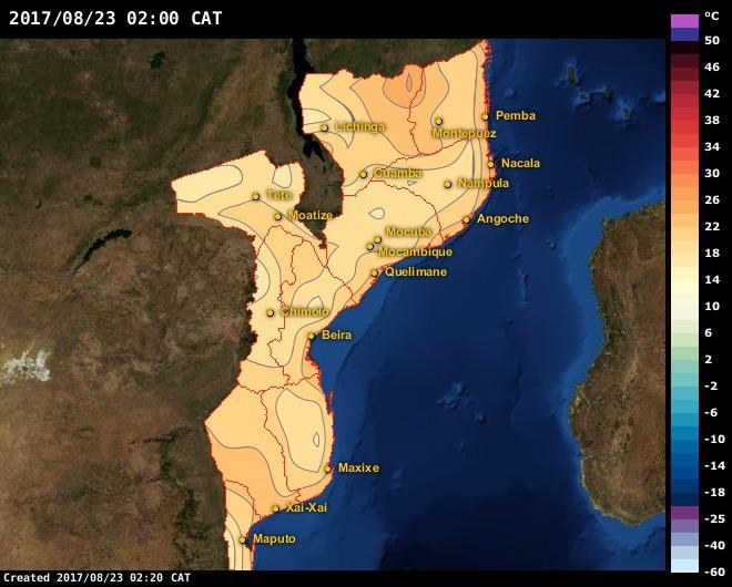 Xai Xai Maps Mozambique AfricaWeather
