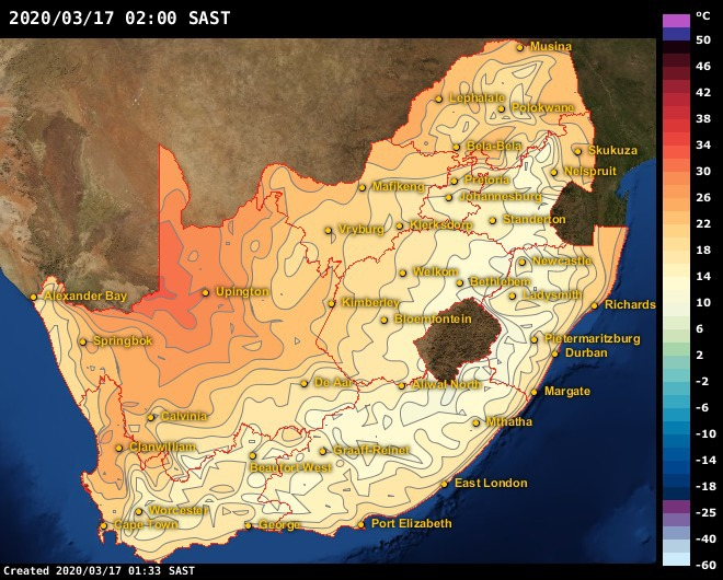 Weather Map South Africa Today.Weather Maps Africaweather