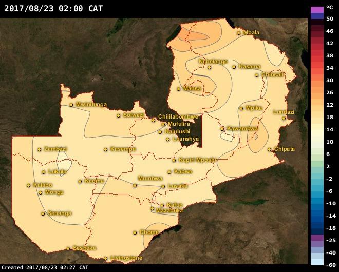 Senanga Maps Zambia AfricaWeather - Zambia time zone map
